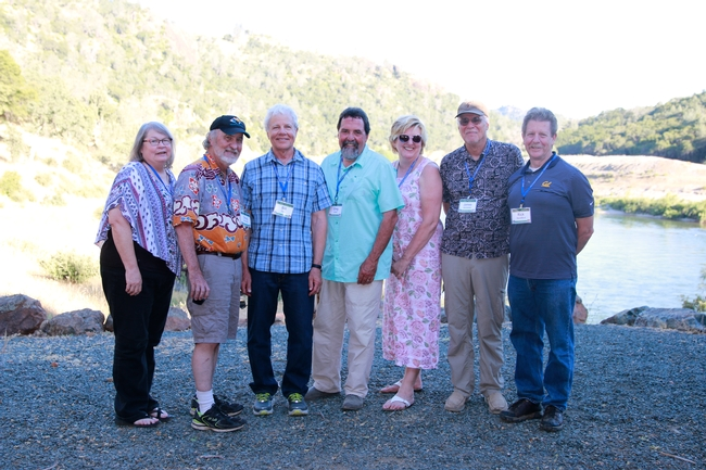 Joni Rippee, McCreary, Bill Tietje, Greg Giusti, Sherry Cooper, James Bartolome and Rick Standiford at Sierra Foothill Research and Extension Center