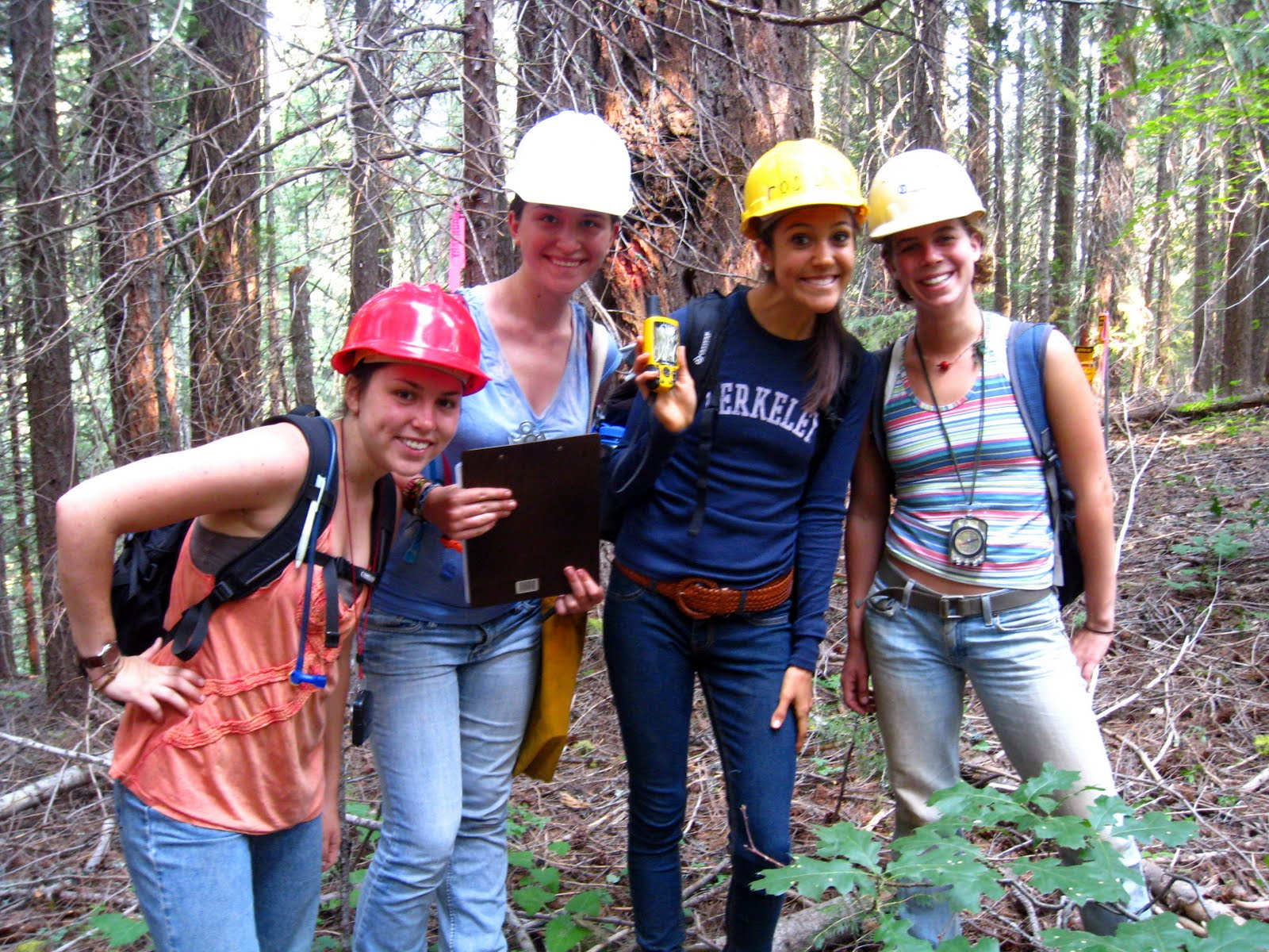 Students at Forestry Field Camp