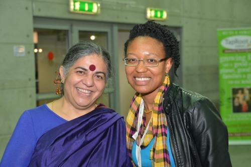 Vandana Shiva and Frances Roberts Gregory Terra Madre 2012