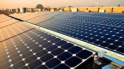 Solar panels at a solar facility in Vietnam.