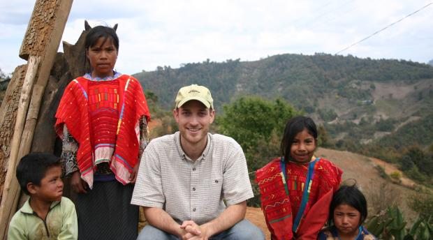 Seth Holmes with children