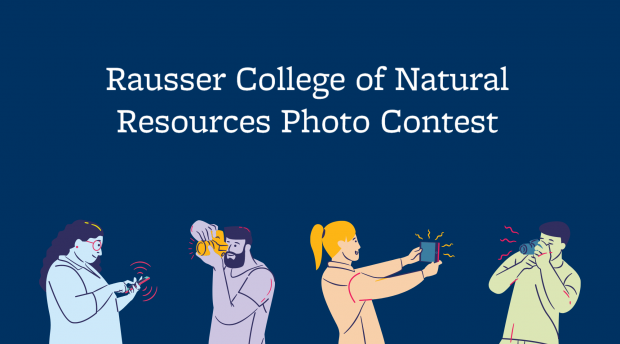 Graphic with Rausser College of Natural Resource Photo Contest
