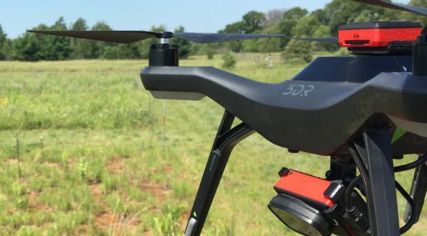drone in field