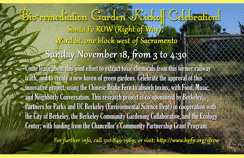 Banner for Garden Kickoff Celebration.
