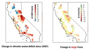 Graph of drought in California in the 1930s and today