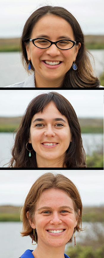 Top to Bottom: Karen Andrade, Lara Cushing, and Rachel Golden