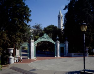 Sather Gate, UC Berkeley, Photograph © 2003 by Alan Nyiri, courtesy of the Atkinson Photographic Archive
