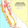 California fire hazard severity zone map.